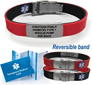 men's medical id bracelets adults