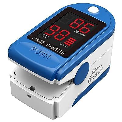 TrackAid Pulse Oximeter Portable Finger Oxygen ...