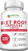 Beet Root Capsules - 1200mg Per Serving - 200 Beet Root Powder Capsules - Beetroot Powder Supports Blood Pressure, Athleti...