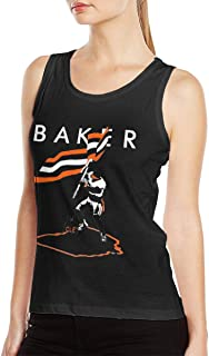 Baker Mayfield Flag Plant Women's Music Style Band Classic Sleeveless T-Shirt Muscle Shirt Gym Tee Black