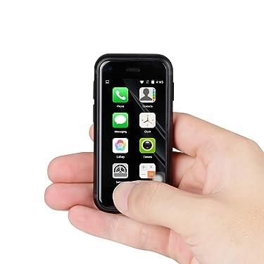 Super Small Mini Smartphone 3G Dual SIM Mobile Phone 1GB RAM 8GB ROM 5.0MP Quad Core Dual Standby Unlocked Children Phone Pocket Cellphone (Black)