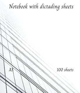 Notebook with dictading sheets