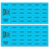 Auction Tickets - 1000 Sheets - Assorted Colors (Blue)