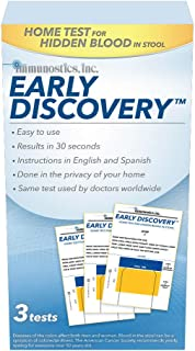 Early Discovery Home Colorectal Tests for Early Detection of Blood in Stool, HSED-3 (Pack of 3)
