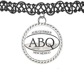 ABQ Albuquerque New Mexico Pride Sticker Choker Pendant Charm Necklace