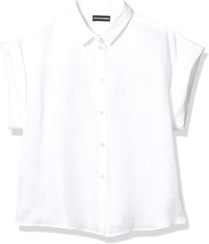 Emporio Armani Women's Linen Short Sleeve Blouse