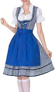 Deloito Kleid Deloito Damen Vintage Bluse Bier Festival Dienstmädchen Kleid Bayerisches Bluse Oktoberfest Cosplay Kostüme Trachtenkleid Clubkleidung