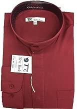 FORTINO LANDI Men's Long-sleeve Banded Collar Shirt - Many Colors Available