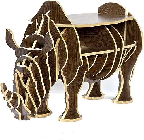 orden en línea ChunSe Estilo Rinoceronte Muebles de Madera Decorativos, los de la la la asamblea del Estante de Madera del Lado del Estante para Libros Lateral, 54  44  116cm,marrón  en linea