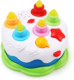 Smartcraft Musical Party Cake, Kids Birthday Cake Toy with Counting Candles & Music, Light and Musical Toys for Babies and Toddlers