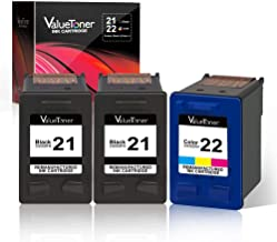 Valuetoner Remanufactured Ink Cartridge Replacement for HP 21 C9351AN & 22 C9352AN for DESKJET F4180 F2210 D1560, OFFICEJET 4315 J3640, FAX 3180, PSC 1401 Printer (2 Black, 1 Tri-Color, 3 Pack)
