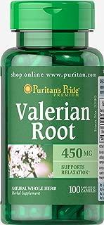 Puritan's Pride Valerian Root 450 mg-100 Capsules