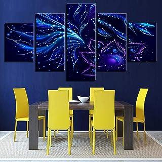 Impressions Peinture Sur Toile Sans Cadre Peinture Décorative Jet D'Encre Ciel Étoilé Paysage Multi-Décoratif Peinture Art...