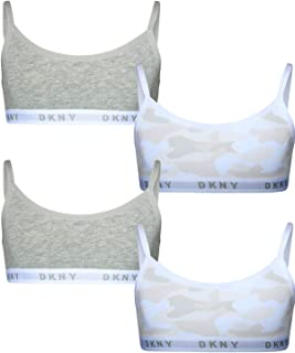 DKNY Girls Cotton/Spandex Training Sport Bra (4 Pack)