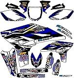 2000-2001 YZ 125/250 (2-Stroke), Mayhem Blue Complete kit, Senge Graphics, Compatible with Yamaha