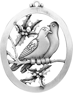 Hampshire Pewter Two Turtle Doves Ornament