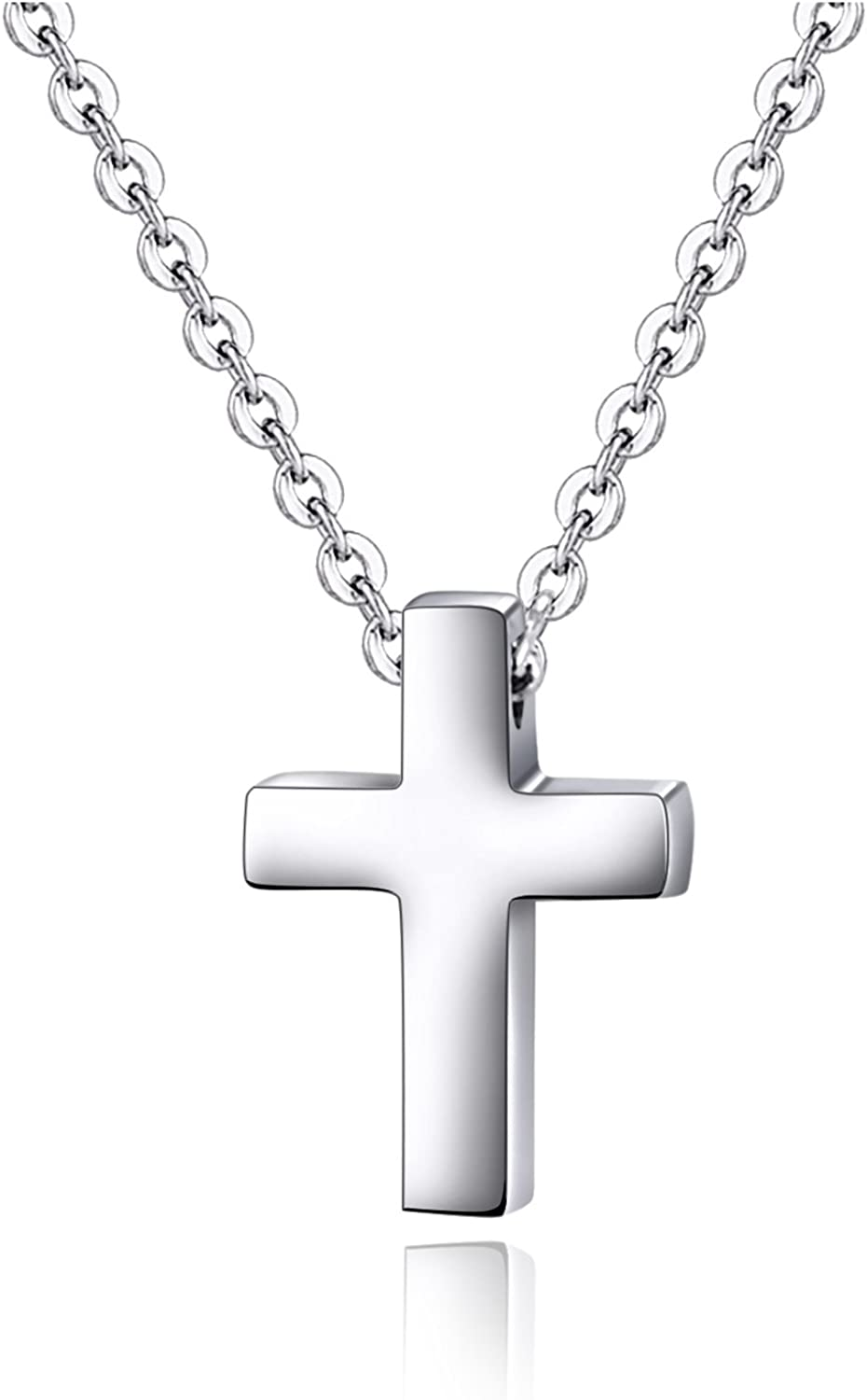 Xianli Wang Tiny Simple Cross Pendant for Children Boy Girl Stainless Steel Small Necklace