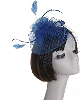 Lowprofile Fashion Penny Mesh Hat Tea Party Headband Mesh Ribbons Feathers Fascinator Head Clip