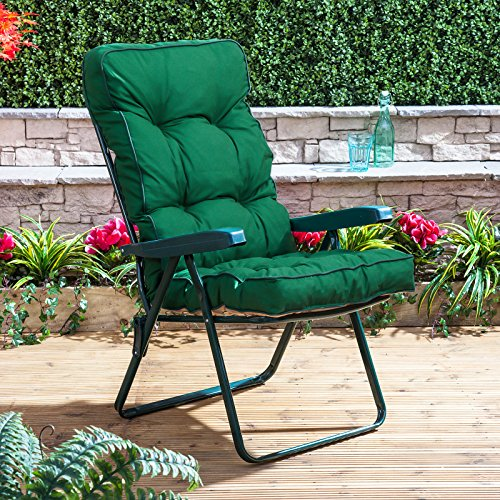 Alfresia Recliner Chair - Green Frame with Classic Green Cushion