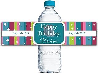 Kleber Wasserdicht Kundenspezifische Geburtstags-Aufkleber Personalisierte Personalisierte Personalisierte Wasserflasche Labels 8  x 2  Zoll - 50 Etiketten B01A0W5JXA  Ein Gleichgewicht zwischen Zähigkeit und Härte 06ec7c