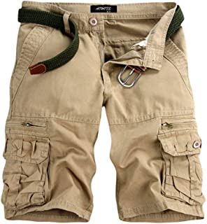 Floral Pockets Stripe Button Decor Drawstring Casual Pants Vintage Shorts Khaki//Blue//Gray M-4XL MISYAA Shorts for Men