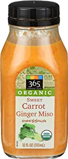 365 Everyday Value, Organic Sweet Carrot Ginger Miso Dressing, 12 oz