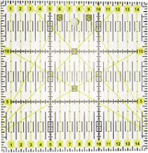 Ounona patchwork righello 45/gradi Romboide patchwork righello in plastica da cucire accessori