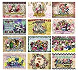 Alice in Wonderland Postcards Series 3 (36-Pack)-Assorted Card Stock Bulk Set – Premium Quality Greeting Cards Stock – Stocking Stuffers Gift for Teachers, Educators, Students