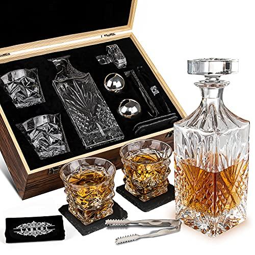 Labeol Whiskey Stones Whiskey Gift Sets for Men Whisky Glasses Set 2...
