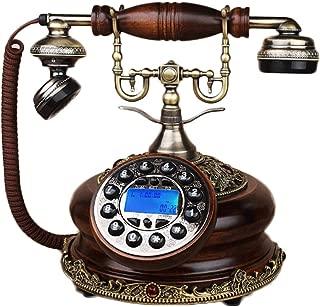 WXL Oak Handsfree Phone Antique Backlight Landline Used for Office Family Decoration (Color : Oak Hands-Free Backlight)
