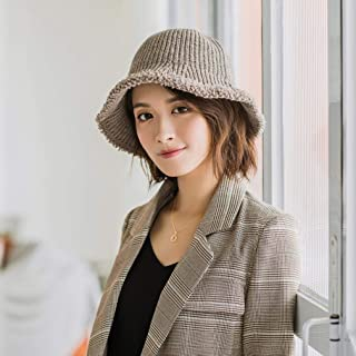 Knitted Hats for Women Simple Fashion Knit Thickening Trend Cold Hat Winter Warm Basin Cap Fisherman Hats