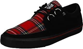 Hombres T.U.K. Shoes Mujer Rojo & Negro Plaid D-Ring VLK Enredadera Sneaker