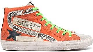 Golden Goose Luxury Fashion Uomo GMF00115F00126730231 Arancione Cotone Hi Top Sneakers | Stagione Permanente