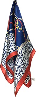 Women's 100% Real Mulberry Silk Scarf Small Square Scarf for Hair and Neck, 21'' x 21''