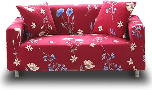 HOTNIU Stretch Sofa Loveseat Cover Pattern Arm Chair Couch Slipcover For 1 2 3 4 Seat Armchairs Loveseats Sofas Sectional Couches 4 Seater Sofa 88 114 Pattern 1