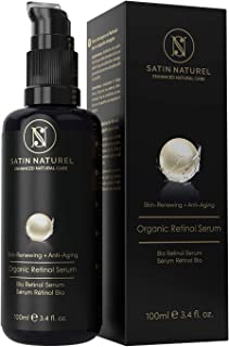 THE WINNER 2019* ORGANIC Retinol Serum 3x LARGER 100ml - Advanced 3% Retinol & 25% Vitamin C Complex – High-Dosed with Aloe Vera Hyaluronic Acid & Vitamin E - Anti-Aging Skin Care Made in Germany