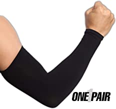 UV Sun Protection Arm Sleeves for Men & Women - UPF 50 Cooling Compression Arm Cover Shield for Basketball, Running, Cycling, Golf, Volleyball, Baseball & Football - Skin Cancer Foundation Recommended