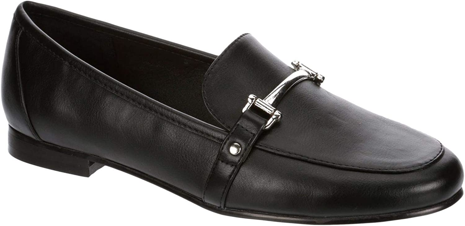 Limelight Gini - Womens Slip On Bar Accent Pointed Toe Loafer Flat