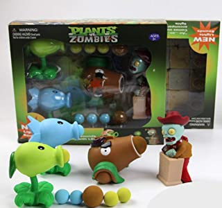 New Plants vs Zombies Package Set with Lights and Sounds - Peashooter, Snowpea, Coconut Cannon