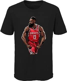 Youth Houston Rockets James Harden Black NBA Playoffs Bound Hero T-Shirt (Youth Large (14/16))
