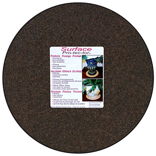 CWP MA-1400 Synthetic Fabric Plant Mat, 14-Inch, Charcoal/Walnut Brown (Packaging label may vary)