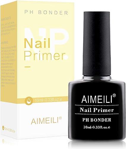 AIMEILI Nail Primer Semi Permanent Nail Prep Bond Primer Air Dry Gel Équilibrant Vernis à Ongles Primer 10ml