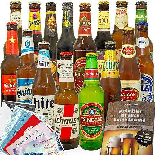 Männer Geschenkidee / 16 Biere aus aller Welt / Geschenkset Geburtstag