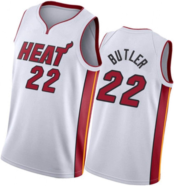Miami Heat Jimmy Butler City Edition Jersey Chaleco sin Mangas de Baloncesto y Traje de la Fiesta de Hip Hop de Malla Tops de Secado r/ápido de la Malla 22#