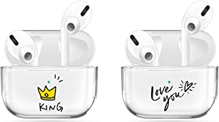 [2Pack] Transparent Case Compatible with Airpods Pro Case Premium Crystal Clear TPU Protective Cover,Visible LED Shock & S...