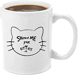 GiftaCup Show Boss, Birthday Surprise, Movie Lovers Premium 11oz Coffee Kitty Gift Set, Mugs With Funny Cat Sayings, Give me your Milk, White