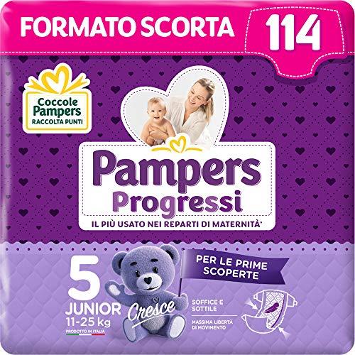 Pampers Progressi, Babywindeln Taglia 5 (114 Unità)