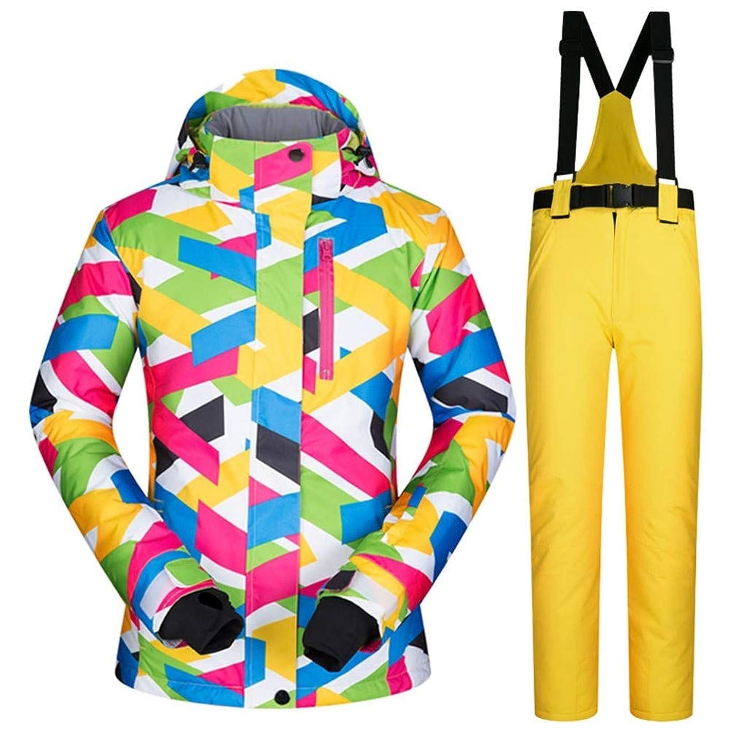 Teslaluv Ski Jacket Winter Ski Suit Women Ski Jacket and Pants Snow Warm Waterproof Windproof Skiing and Snowboarding Suits,S