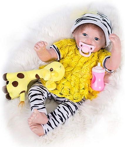 Hongge Reborn Baby Doll, Realistische Neugeborene Reborn Puppen, Kinder Spielzeug Geburtstagsgeschenk 46cm