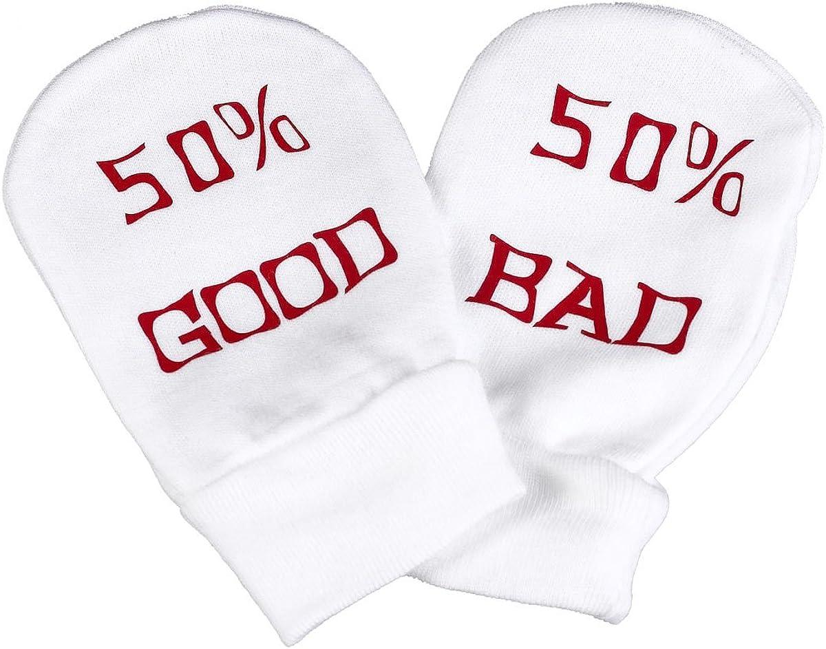 Spoilt Rotten - 50% Good 50% Bad Baby 100% Organic Cotton Scratch Mittens